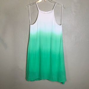 Sage NWT Green White Sleeveless Lined Dress Size S